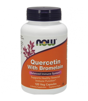 Quercetin ( Κερσετίνη) with Bromelain 120vcaps Now Foods