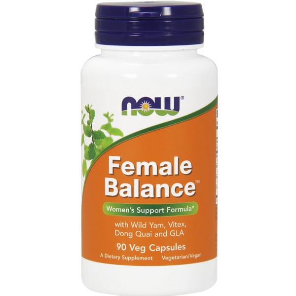 Female Balance™ 90 Vegan Κάψουλες Now Foods