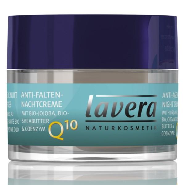 Lavera Κρέμα Νυχτός Q10 με Αντιγηραντική Δράση 50ml Basis Sensitive, Βιολογική