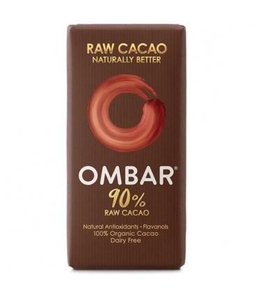 Βιολογική Σοκολάτα Ωμοφαγική με 90% Κακάο 38γρ., Ombar