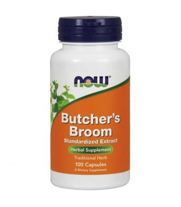 Butcher's broom 500mg 100 Κάψουλες Now Foods