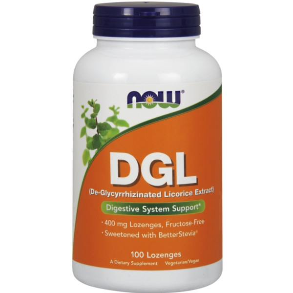 DGL (Γλυκόριζα) 400 mg 100 Παστίλιες Now Foods