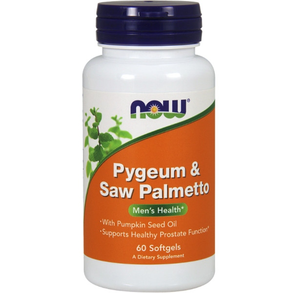 Pygeum & Saw Palmetto 120 Τζελ Now Foods