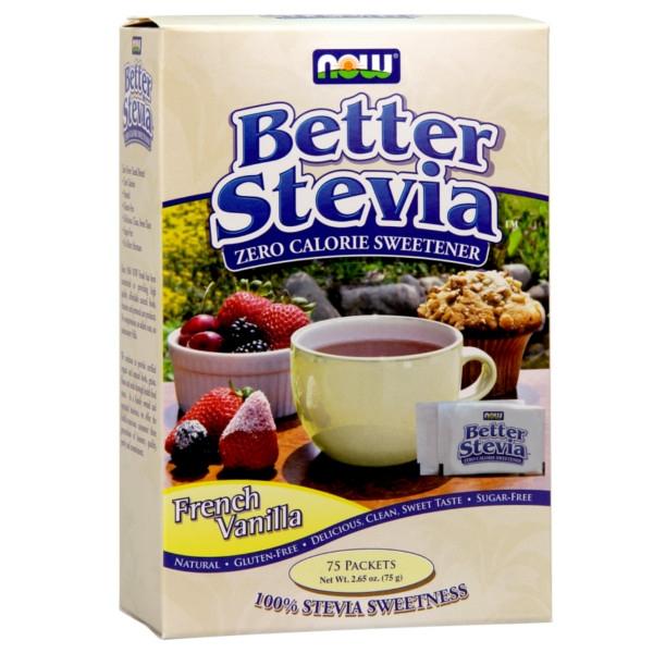 BetterStevia® με Γεύση French Vanilla 75 ΦακελάκιαNow Foods