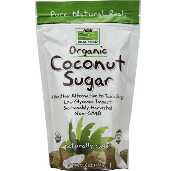Βιολογική Ζάχαρη Καρύδας 454γρ Now Foods