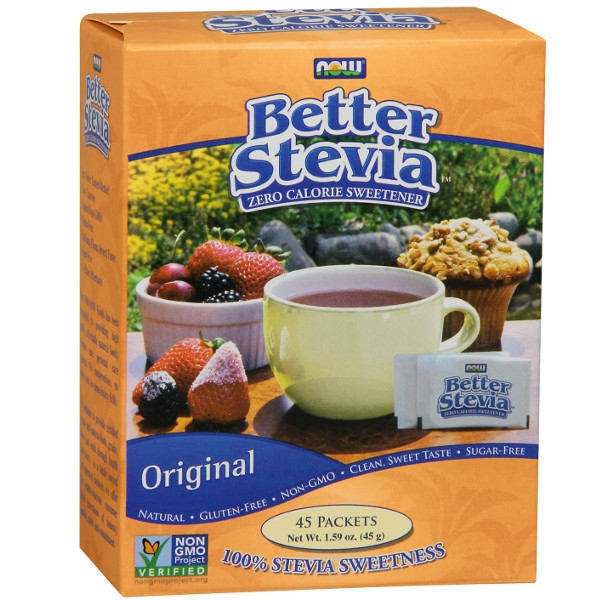 BetterStevia® 45 Φακελάκια Now Foods