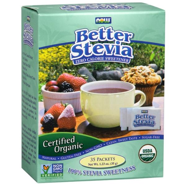 Βιολογική Στέβια BetterStevia® 35 Φακελάκια Bio Now Foods