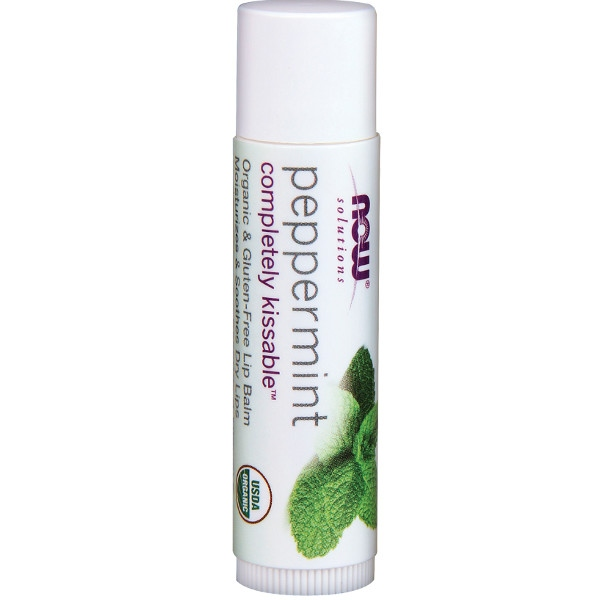 Βιολογικό Completely Kissable™ Peppermint Lip Balm Now Foods