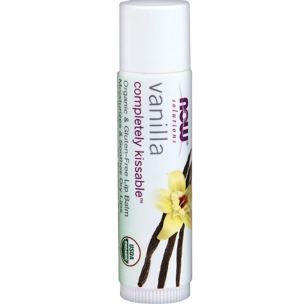 Βιολογικό Lip Balm Completely Kissable™ Βανίλια Now Foods