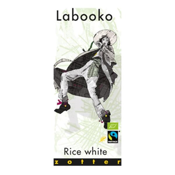 Βιολογική Λευκή Σοκολάτα Ρυζιού Bio 70γρ Labooko Zotter