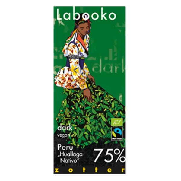 """Βιολογική Σοκολάτα Peru """"Huallaga Nativo"""" 75% Bio 70γρ Labooko Zotter"""
