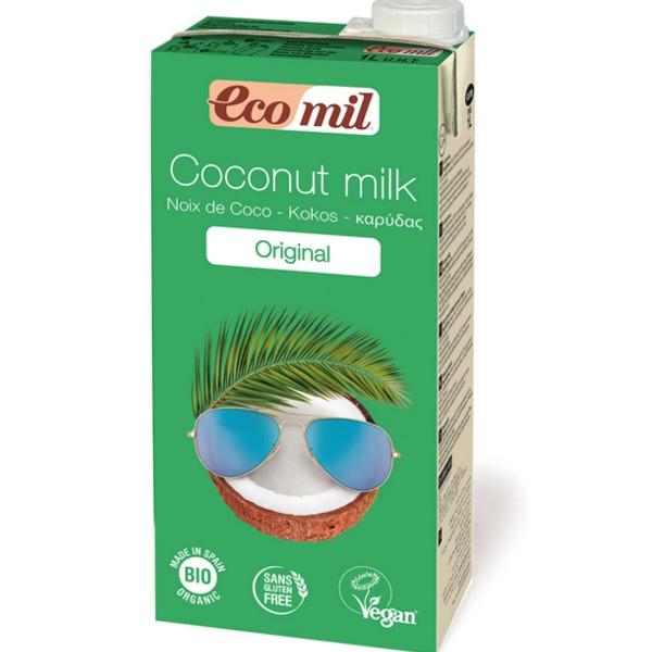 Βιολογικό Γάλα Καρύδας με Σιρόπι Αγαύης Bio 1lt, Ecomil