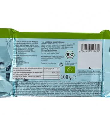Βιολογική Σοκολάτα Γάλακτος Γεμιστή 100γρ. Bio, Rapunzel