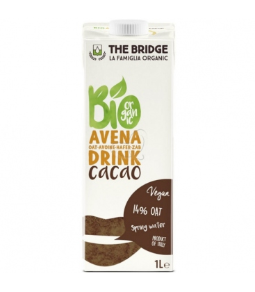 Βιολογικό Ροφημα Βρώμης με Κακάο 1lt Bio The Bridge