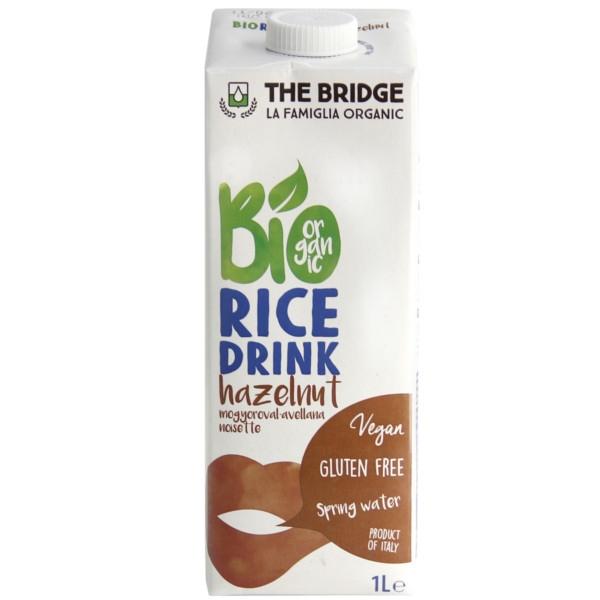 Βιολογικό Ρόφημα Ρυζιού με Φουντούκι 1lt Bio The Bridge
