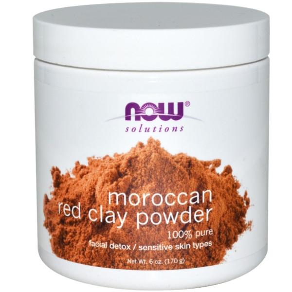Κόκκινη Άργιλος Moroccan σε Σκόνη 170gr Now Foods