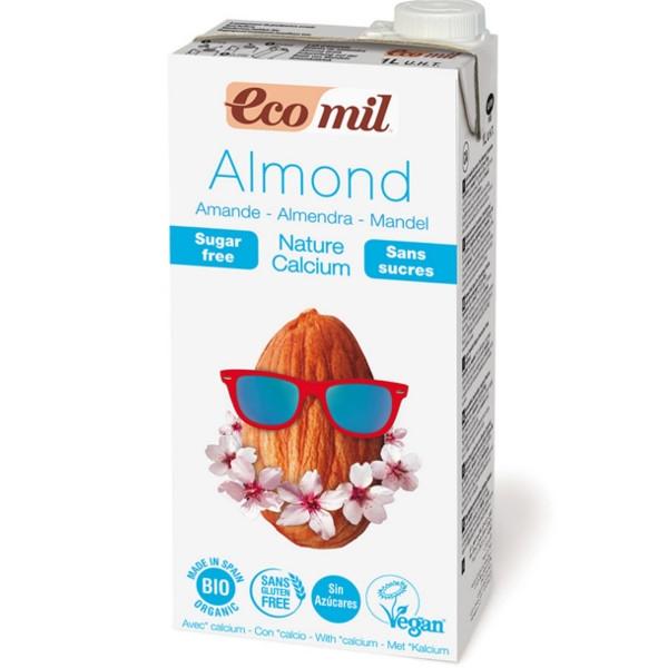 Ρόφημα Αμυγδάλου με Ασβέστιο Χωρίς Ζάχαρη 1lt, Ecomil