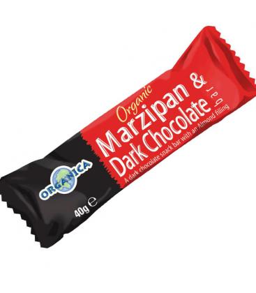 Βιολογική Mαρζιπάν Μαύρης Σοκολάτας 40γρ. Bio, Organica