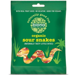 Βιολογικές Καραμέλες Sour Snakes Bio 75γρ., Biona