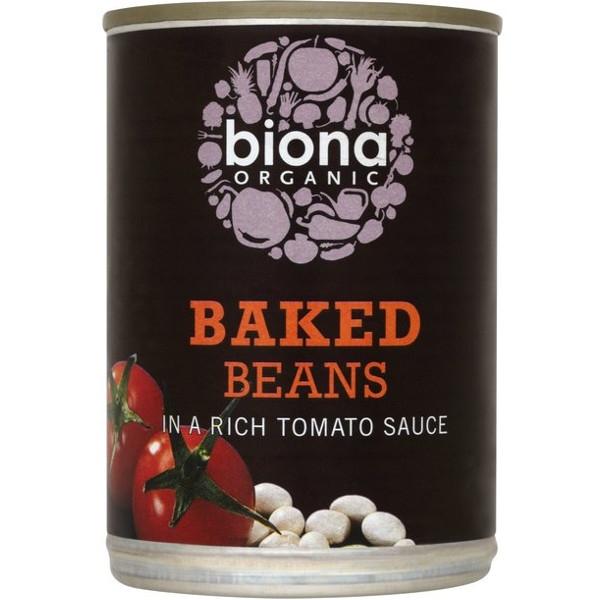 Βιολογικά Φασόλια Μαγειρεμένα σε Ντομάτα Bio 400γρ., Biona