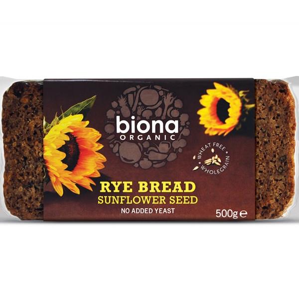 Βιολογικό Ψωμί Σίκαλης με Ηλιόσπορο Bio 500γρ, Biona