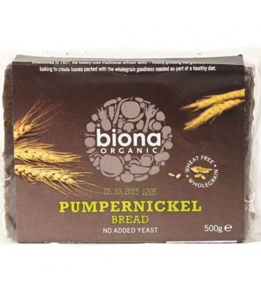 Βιολογικό Ψωμί Σίκαλης Pumpernickel Bio 500γρ., Biona