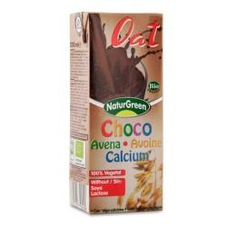 Βιολογικό Ρόφημα Βρώμης Σοκολάτα με Έξτρα Ασβέστιο 200ml., Naturgreen