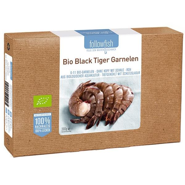 Βιολογικές Γαρίδες Black Tiger Βιολογικής Ιχθυοκαλλιέργειας 250γρ., Followfish