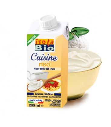 Βιολογική Κρέμα Ρυζιού για Μαγείρεμα Χωρίς Γλουτένη 200ml, Isola Bio