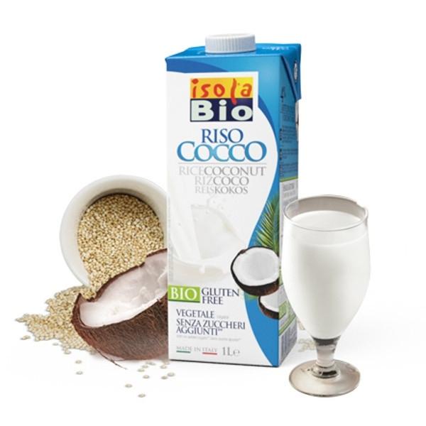 Βιολογικό Ρόφημα Ρυζιού με Καρύδα Bio 1lt, Isola Bio