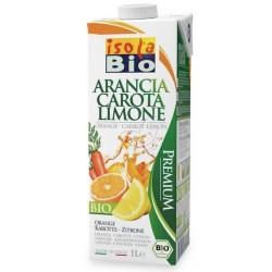 Βιολογικός Χυμός Πορτοκάλι Καρότο Λεμόνι 1lt Bio, Isola Bio