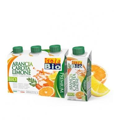 Βιολογικός Χυμός Πορτοκάλι Καρότο Λεμόνι 200ml Bio, Isola Bio