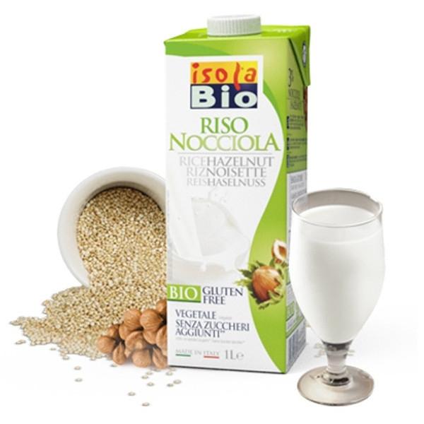 Βιολογικό Ρόφημα Ρυζιού με Φουντούκι 1lt Bio, Isola Bio