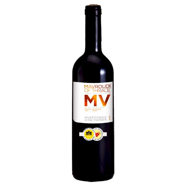 Βιολογικός MV Mαυρούδι Ξάνθης Ερυθρός Ξηρός Bio Οίνος 750ml, Ελληνικός, Anatolikos Vineyards