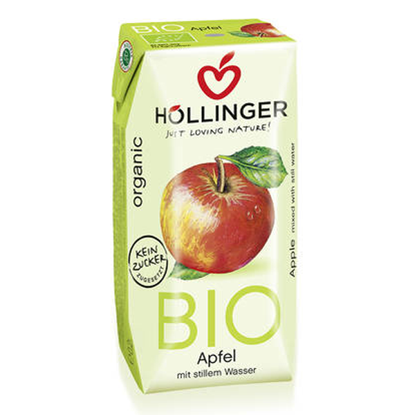 Βιολογικός Χυμός Μήλου Bio 200ml, Hollinger