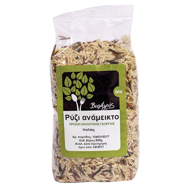Βιολογικό Ρύζι Ανάμεικτο Βιολογικής Γεωργίας 500γρ., Ελληνικό, Βιοαγρός