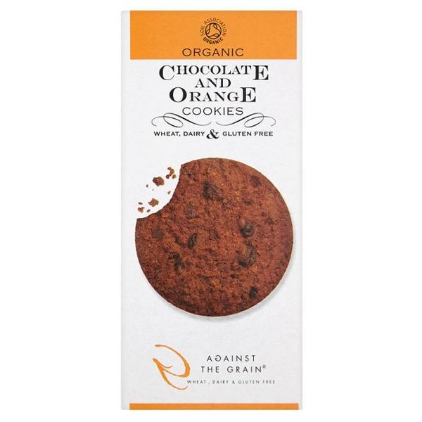 Βιολογικά Μπισκότα Σοκολάτα & Πορτοκάλι 150γρ., Against the Grain