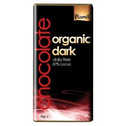 Βιολογική Σοκολάτα Μαύρη με 87% Κακάο Χωρίς Λακτόζη (Γάλα) Bio, Plamil