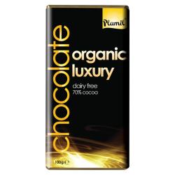 Βιολογική Σοκολάτα με 70% Κακάο Χωρίς Γάλα και Χωρίς Γλουτένη 100γρ., Plamil