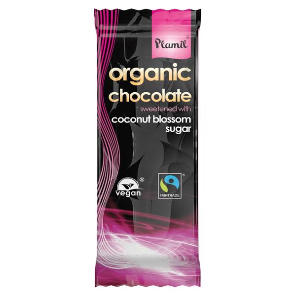 Βιολογική Σοκολάτα με Ζάχαρη Καρύδας Bio 100γρ., Plamil