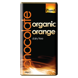 Βιολογική Σοκολάτα με Πορτοκάλι Χωρίς Γλουτένη 100γρ. Bio, Plamil