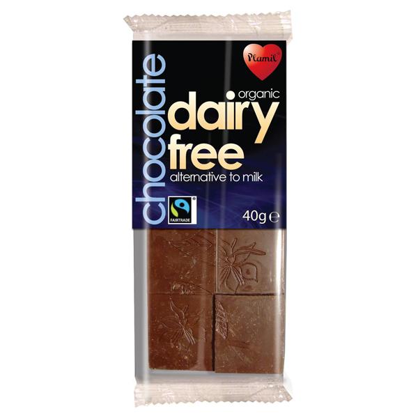 Βιολογική Σοκολάτα Εναλλακτική της Γάλακτος 40γρ., Plamil