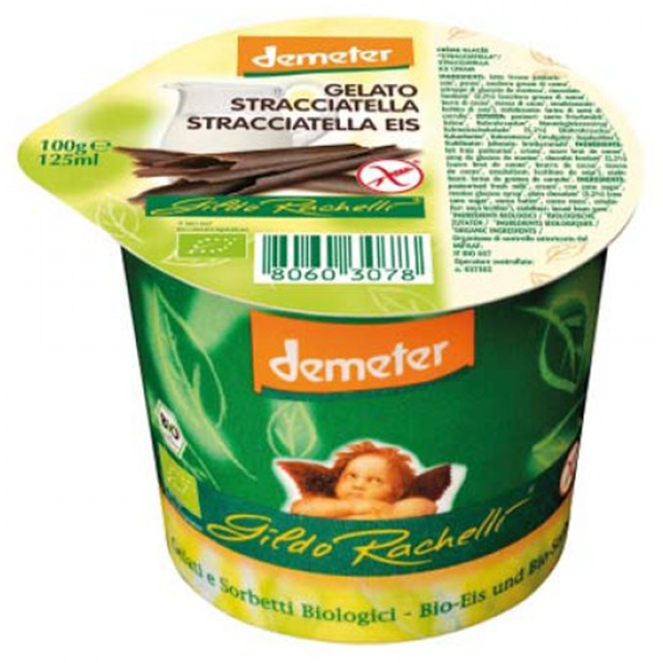Βιολογικό Παγωτό Στρατσιατέλλα 125ml Demeter, Gildo Rachelli