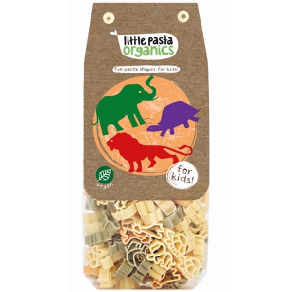 Βιολογικά Ζυμαρικά Ζωάκια Τρικολόρε 250γρ., Little Pasta Organics
