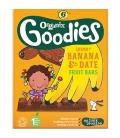 Βιολογικές Μπάρες Φρούτων με Μπανάνα & Χουρμά Bio 6x17γρ., Organix