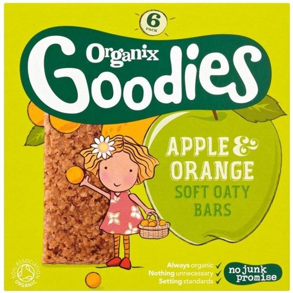 Βιολογικές Μπάρες Δημητριακών Μήλο Πορτοκάλι, Organix