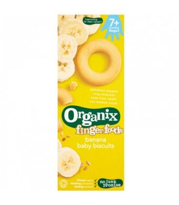 Βιολογικά Μπισκοτάκια Δαχτυλιδάκια Μπανάνας Bio 54γρ., Organix