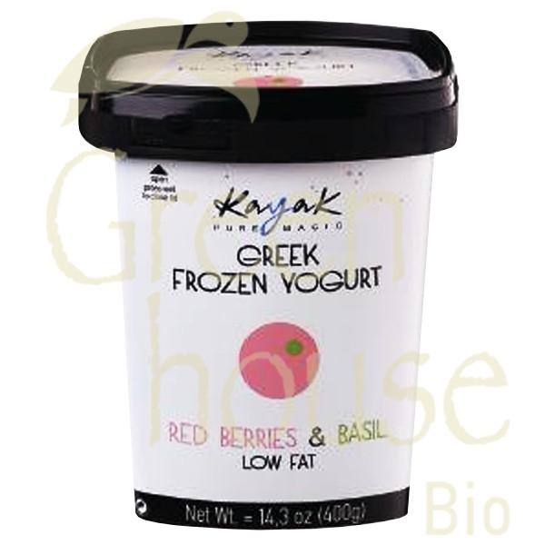 Frozen Yogurt Κόκκινα Mούρα με Bασιλικό 500ml, Ελληνικό, Kayak