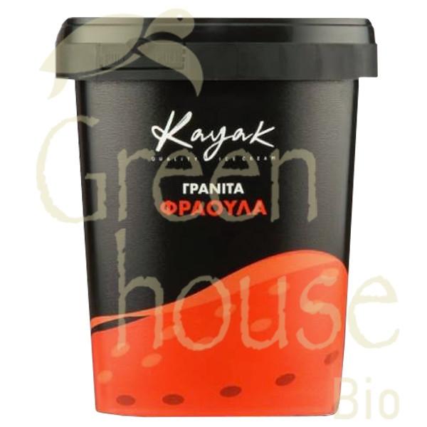 Παγωτό Γρανίτα Φράουλα 500γρ., Ελληνικό, Kayak
