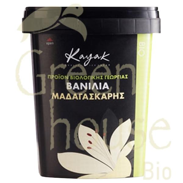 Βιολογικό Παγωτό Βανίλια Μαδαγασκάρης Bio 500ml, Ελληνικό, Kayak